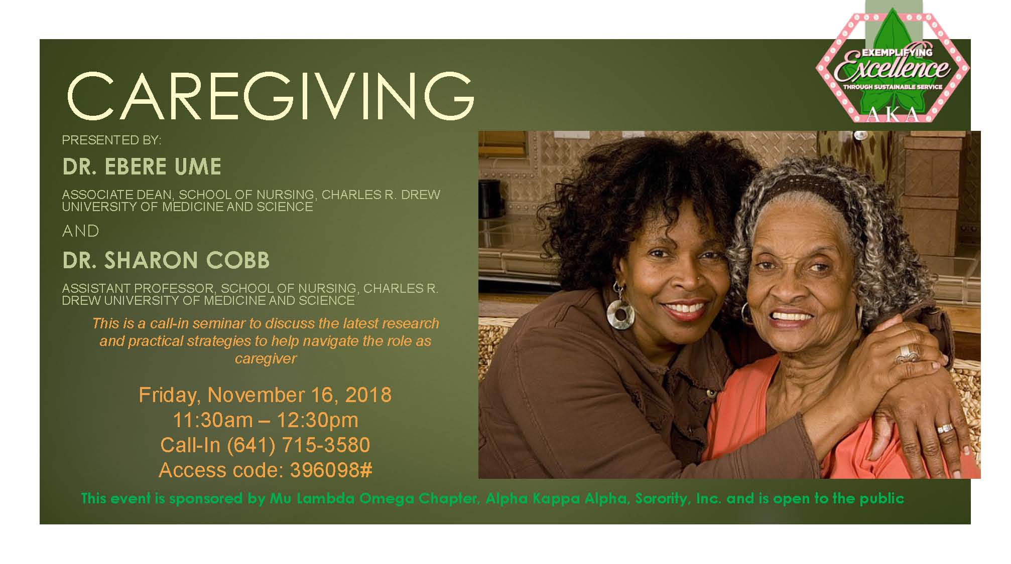 MLO Observes AKA Caregivers Day with Call-In Seminar